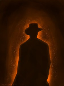 """Man on Fire"" Digital art by M053AB From deviantart.com"