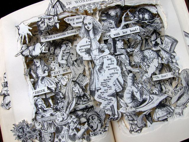 Book sculptures from www.KellyCampbellBerry.com