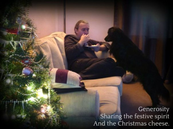 Generosity Sharing the festive spirit And the Christmas cheese