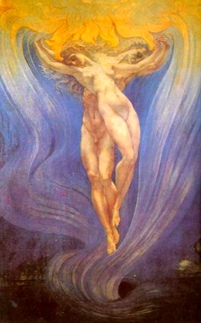 """The Love of Souls"" -- 1900, by Jean Delville"