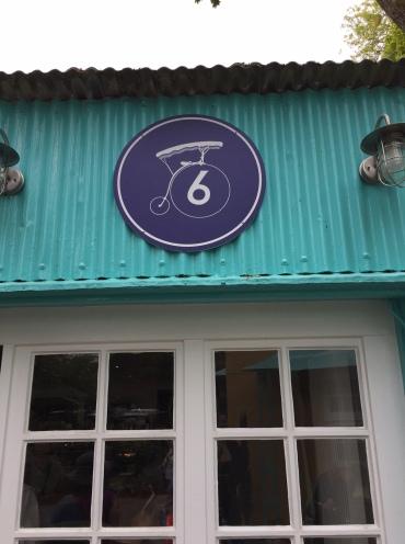 No 6 cafe sign