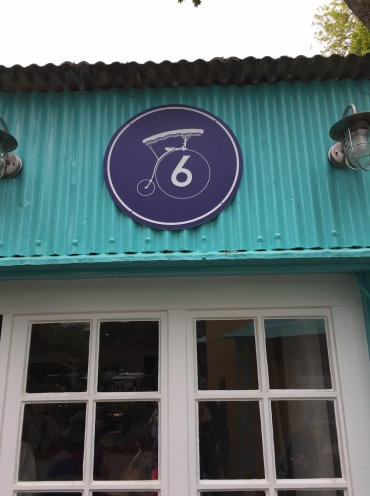 No 6 cafe sign