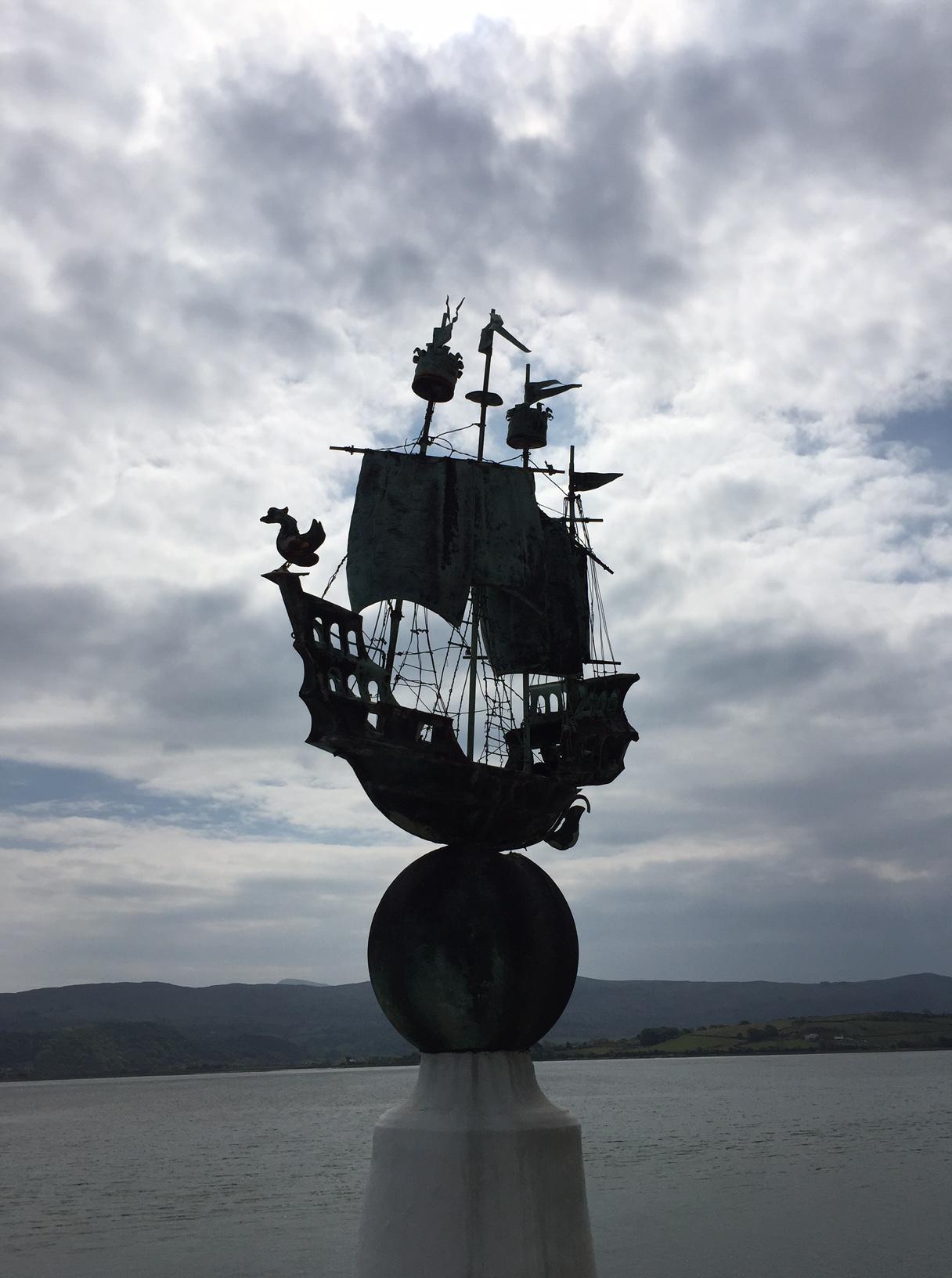 Portmeirion Ship on ball