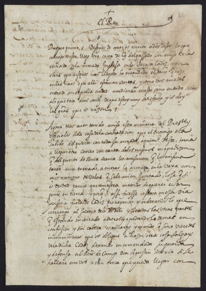 Phillip II's letter about Drake and Cadiz