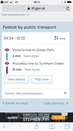TFL directions smaller