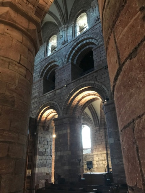 St Magnus Cathedral x Roof thru pillars