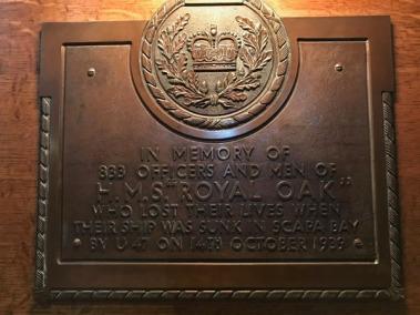 St Magnus x Cathedral HMS Royal Oak panel